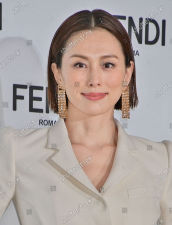 FENDI Japan new brand ambassdor, Japanese actor Ryoko Yonekura attends the press conference for FENDI Japan in Tokyo, Japan.