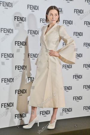 Stock Photo of FENDI Japan new brand ambassdor, Japanese actor Ryoko Yonekura attends the press conference for FENDI Japan in Tokyo, Japan.