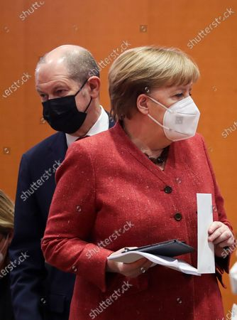 Editorial photo of Cabinet meeting at the Chancellery in Berlin, Germany - 20 Jan 2021