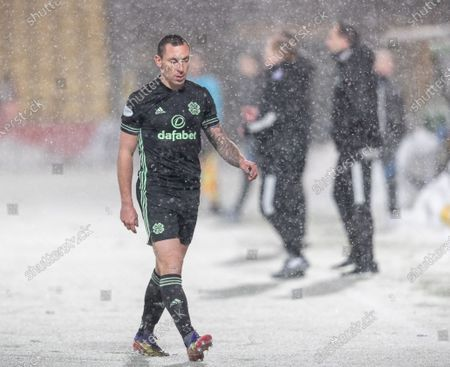 Scott Brown of Celtic sent off by Referee Willie Collum for violent conduct after Brown appeared to lash out at Kabia shortly after coming on as a substitute.