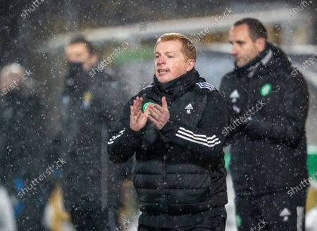 Celtic Manager Neil Lennon in the technical area