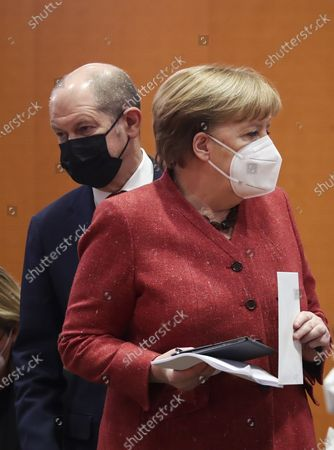 Editorial picture of German government Cabinet meeting, Chancellery, Berlin, Germany - 20 Jan 2021
