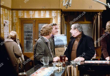 Peter Adamson (as Len Fairclough), Alan Browning (as Alan Howard) and Bernard Youens (as Stan Ogden)
