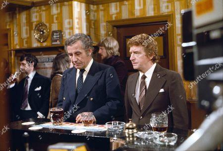 Alan Browning (as Alan Howard) and Peter Adamson (as Len Fairclough)