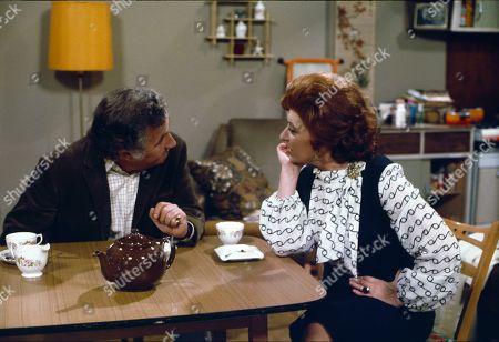 Alan Browning (as Alan Howard) and Pat Phoenix (as Elsie Howard)