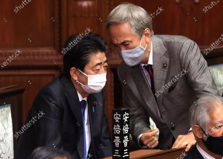 Editorial picture of Japanese Prime Minister Yoshihide Suga answers a question at Lower House's plenary session, Tokyo, Japan - 20 Jan 2021