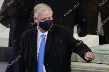 Former Vice President Dan Quayle arrives for the inauguration of President-elect Joe Biden during the 59th Presidential Inauguration at the U.S. Capitol in Washington
