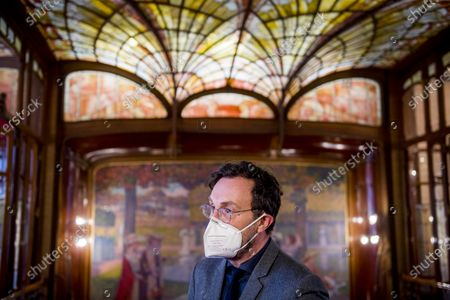 Brussels region State Secretary Pascal Smet pictured during a press moment for the permanent opening of the so-called Solvay house, from famous architect Horta from 1894, Wednesday 20 January 2021. The house was built for the son of industrial Solvay, designed outside and inside with furniture by Horta.