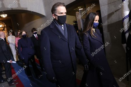 Stock Photo of Hunter Biden and Barbara Bush arrive during the inauguration of Joe Biden as US President in Washington, DC, USA, 20 January 2021. Biden won the 03 November 2020 election to become the 46th President of the United States of America.