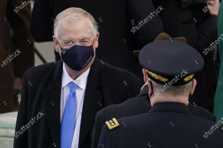Former Vice President Dan Quayle arrives during the 59th Presidential Inauguration at the U.S. Capitol in Washington