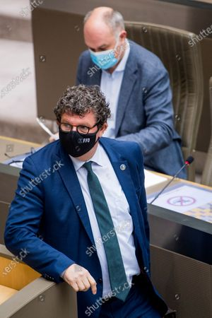 Open Vld's Bart Tommelein pictured during a plenary session of the Flemish Parliament in Brussels, Wednesday 20 January 2021.