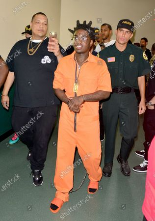 Image taken on 10 Aug 2017. Kodak Black backstage at his Homecoming Concert first show since getting home from jail in June at Watsco Center
