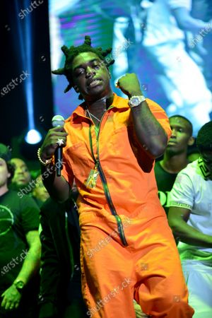 Image taken on 10 Aug 2017. Kodak Black performs on stage at his Homecoming Concert first show since getting home from jail in June at Watsco Center.