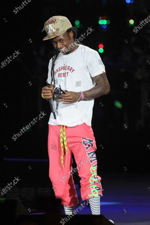Stock Picture of Image taken on 02 Aug 2011. Rapper Lil Wayne performs during the I Am Still Music tour at the Cruzan Amphitheatre.