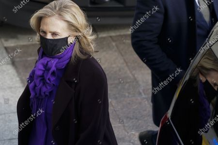 Former Secretary of State Hillary Clinton arrives at the U.S. Capitol ahead of the inauguration of President Joe Biden before the 59th Presidential Inauguration on Wednesday, January 20, 2021 in Washington DC.