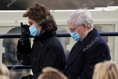 Senator Mitch McConnell (R-KY) and his wife Elaine Chao attend the inauguration of Joe Biden as the 46th President of the United States on the West Front of the U.S. Capitol in Washington, U.S.,. REUTERS/Jonathan Ernst/Pool