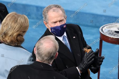 WASHINGTON, DC - JANUARY 20: Former U.S. President George W. Bush arrives to the inauguration of U.S. President-elect Joe Biden on the West Front of the U.S. Capitol in Washington, DC. During today's inauguration ceremony Joe Biden becomes the 46th president of the United States. (Photo by Tasos Katopodis/Getty Images)