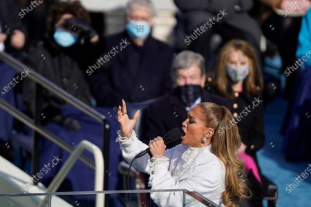 Stock Image of Jennifer Lopez performs during the 59th presidential inauguration in Washington, D.C. on Wednesday, Jan. 20, 2021. (Kent Nishimura / Los Angeles Times)