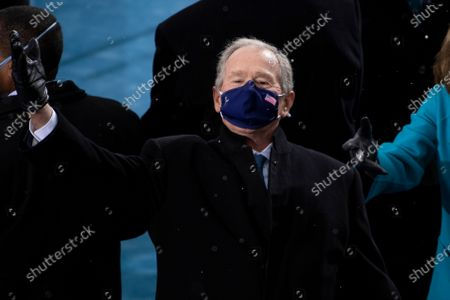 UNITED STATES - January 20: Former President George W. Bush arrives to the West Front of the U.S. Capitol for the Inauguration of Joe Biden in Washington. (Photo by Caroline Brehman/CQ Roll Call)