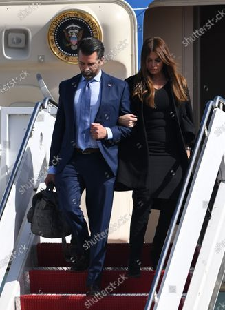 Editorial image of US President Donald Trump and First Melania Trump arrive on Airforce One at Palm Beach International Airport, Florida, USA - 20 Jan 2021