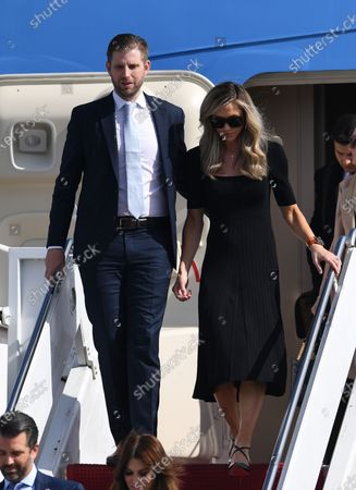 Editorial picture of US President Donald Trump and First Melania Trump arrive on Airforce One at Palm Beach International Airport, Florida, USA - 20 Jan 2021