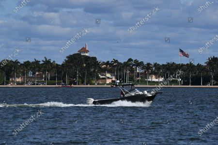 A general view at Mar a Lago as Former US President Donald Trump arriving home to Palm Beach