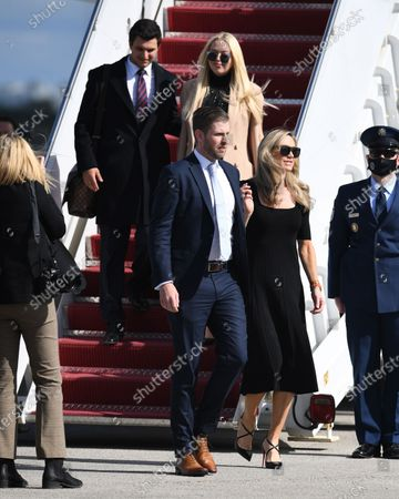 Editorial photo of US President Donald Trump and First Melania Trump arrive on Airforce One at Palm Beach International Airport, Florida, USA - 20 Jan 2021