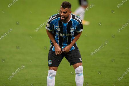 Maicon of Gremio with a grimace; Arena de Gremio, Porto Alegre, Brazil; Brazilian Serie A football, Gremio versus Atletico Mineiro.