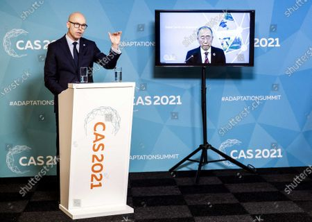 Editorial image of Press briefing ahead of Climate Adaptation Summit 2021 in The Hague, Netherlands - 20 Jan 2021