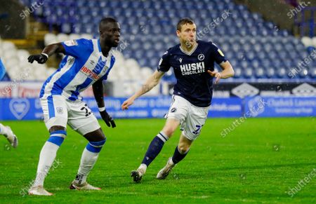 Millwall forward Jon Dadi Bodvarsson (22) in action  during the EFL Sky Bet Championship match between Huddersfield Town and Millwall at the John Smiths Stadium, Huddersfield