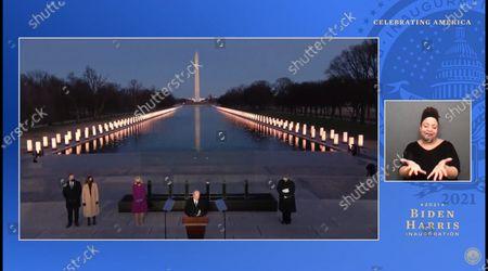 President Joe Biden, First Lady Jill Biden, Vice President Kamala Harris, Second Gentleman Doug Emhoff, Yolanda Adams