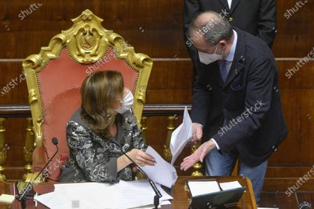 Editorial photo of Senate discussion and vote on the budget variance, Rome, Italy - 20 Jan 2021