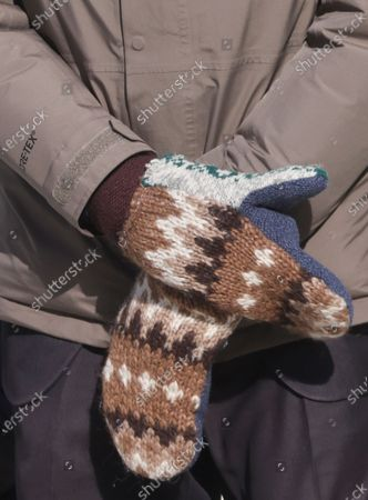 Senator Bernie Sanders wears mittens as he attends the inauguration of Joe Biden as the 46th President of the United States in Washington, DC, USA, 20 January 2021. Biden won the 03 November 2020 election to become the 46th President of the United States of America.