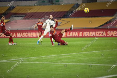 At Stadio Olimpico of Rome, Spezia beat Roma 4-2 in the extra time, for the eight finals run of Coppa Italia. In this picture Riccardo Saponara