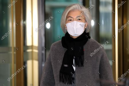 Stock Photo of South Korean Foreign Minister Kang Kyung-wha arrives for work at the foreign ministry in Seoul, South Korea, 21 January 2021. On 20 January President Moon Jae-in nominated Chung Eui-yong, former head of the National Security Council, as Kang's replacement in a partial Cabinet reshuffle.