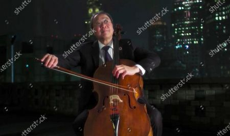 In this image from video, Yo-Yo Ma performs during the Celebrating America event, following the inauguration of Joe Biden as the 46th president of the United States