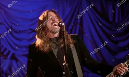 In this image from video, Dave Grohl, of Foo Fighters, performs during the Celebrating America event, following the inauguration of Joe Biden as the 46th president of the United States