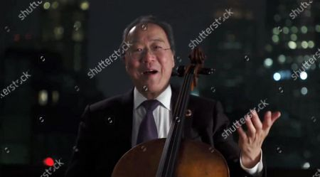 """Stock Image of Yo-Yo Ma performs during """"Celebrating America,"""" a primetime program to welcome a New Era of Leadership in celebration of the Inauguration of Joe Biden as President of the United States and Kamala Harris as Vice President of the US."""