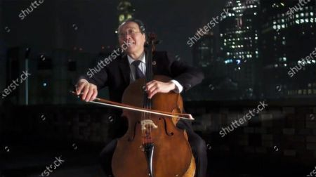 """Stock Photo of Yo-Yo Ma performs during """"Celebrating America,"""" a primetime program to welcome a New Era of Leadership in celebration of the Inauguration of Joe Biden as President of the United States and Kamala Harris as Vice President of the US."""