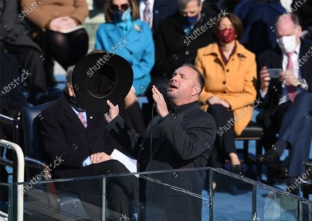 Garth Brooks performs at the inauguration of President Joe Biden as the 46th President of the United States at the Capitol