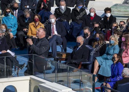 """Garth Brooks sings """"Amazing Grace"""" after President Joe Biden was sworn in as the 46th President of the United States at the U.S. Capitol in Washington, DC on Wednesday, January 20, 2021."""