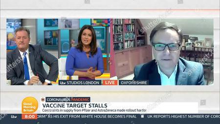 Piers Morgan, Susanna Reid and Professor Anthony Harnden