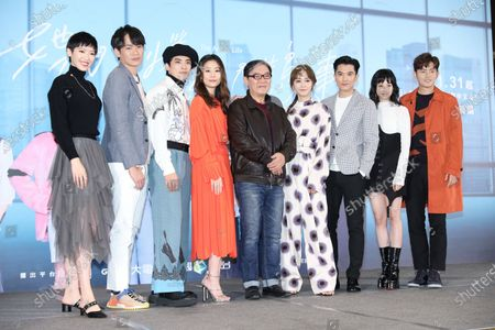 Stock Image of Ruby Lin, Ivy Chen, Roy Chiu, Jian Man-shu, Chris Wang, Lee Li-Chun, Brando Huang