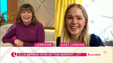 Lorraine Kelly and Ellie Bamber