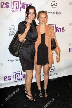 Courteney Cox and Jennifer Mayer