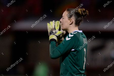 Stock Picture of Hannah Reid of Durham Women in action during the FA Women's League Cup match between West Ham United Women and Durham Women at Victoria Road in London.
