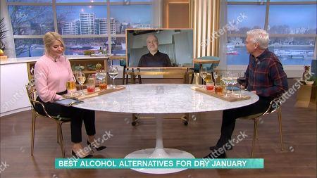 Stock Image of Holly Willoughby, Phillip Schofield and David