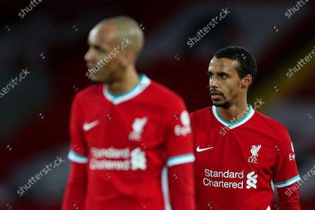 Fabinho and Joel Matip of Liverpool