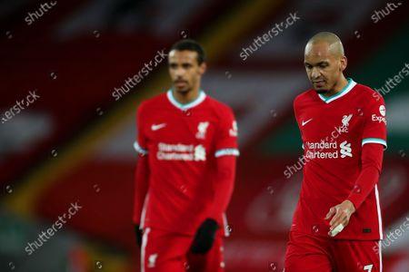 Joel Matip and Fabinho of Liverpool