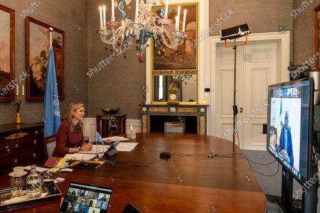 Queen Maxima video call to Senegal, The Hague